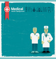 doctor and health background vector image vector image