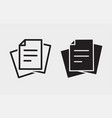 document icon on white background vector image