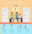 emergency room description vector image