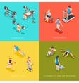 Fitness concept backgrounds vector image