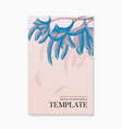 flowers and foliage wedding invitation card vector image vector image