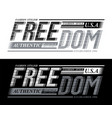 freedom sport slogan graphic typography vector image vector image