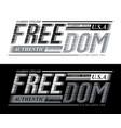 freedom sport slogan graphic typography vector image