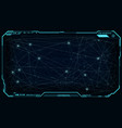 futuristic ui hud big data network digital display vector image vector image