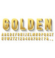 golden 3d font metallic gold letters luxury vector image