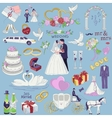 hand drawn collection decorative wedding design vector image vector image
