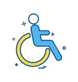 handicapped icon design vector image