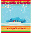 Happy New year card with Santa and winter vector image vector image