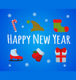 happy new year set sign and logo vector image vector image