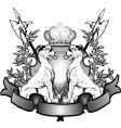 heraldry lions vector image vector image