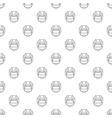hockey helmet pattern seamless vector image vector image