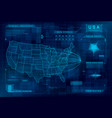 hud map usa set hud callout design vector image