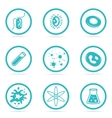Icon Set Helpful and harmful cells bacteria vector image