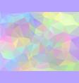 iridescent geometric background vector image vector image