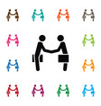 isolated partnership icon handshake vector image vector image