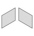 isometric fence isolated on white iron gate vector image vector image