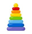 kid toy pyramid vector image