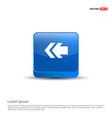 left arrow icon - 3d blue button vector image