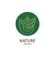 logo spiral forest vector image