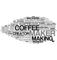maker word cloud concept vector image vector image
