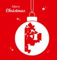 merry christmas theme with map of kansas missouri vector image
