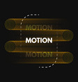 motion design minimal concept with color circles vector image