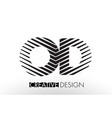 od o d lines letter design with creative elegant vector image vector image