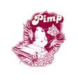 pimp vector image vector image