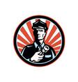 Policeman Security Guard vector image vector image