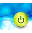 power button background vector image vector image