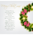 Realistic christmas wreath vector image vector image