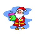 Santa Claus with one gift cartoon vector image vector image
