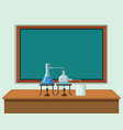 science classroom with tools on table vector image vector image
