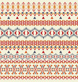 seamless texture tribal geometric striped pattern vector image vector image