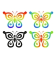 set abstract butterflies vector image
