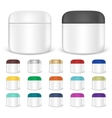 Set of cream jar mockups vector image