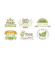 set of food labels with text gluten free vector image vector image