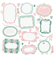 set of romantic frames vector image vector image