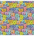 Sketch colorful cat pattern vector image vector image