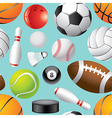 sport balls background seamless vector image vector image