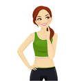 sport woman thinking vector image vector image