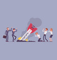 startup rocket crash vector image vector image