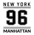 T shirt typography graphic New York city Manhattan vector image vector image