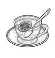 tea with lemon sketch vector image