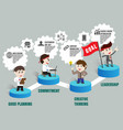 teamwork to successful business template vector image vector image