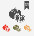 tomato isolated silhouette icon vector image vector image