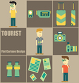 Tourist people Flat Cartoon vector image vector image