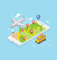 travel navigation map isometric vector image