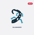 two color salamander icon from animals concept vector image vector image