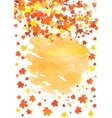 Vertical autumn banner template with blank space vector image vector image